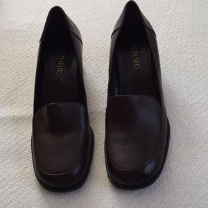 Connie brand leather brown shoes size6👠👠👠👠